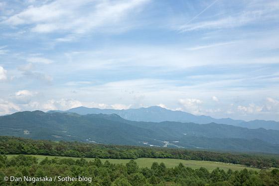 まきば公園から見える瑞牆山