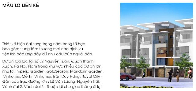 Tiện ích - liên kết vị trí của Liền Kề 82 Nguyễn Tuân