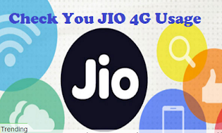How to Check JIO 4G data Usage