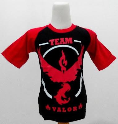 Kaos Raglan Anak Karakter Team Valor