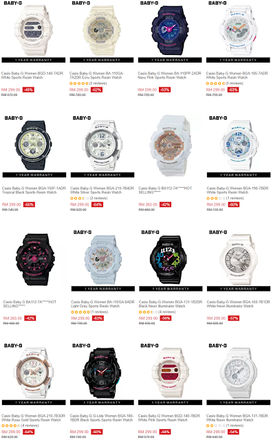 Casio Baby-G Lazada Malaysia Price Discount Offer Promo