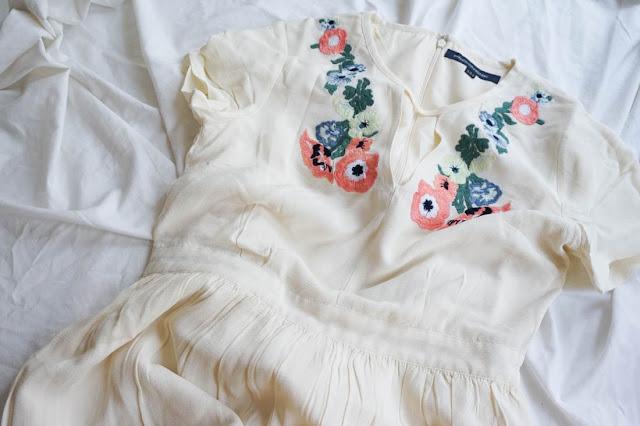 haut robe fleuries