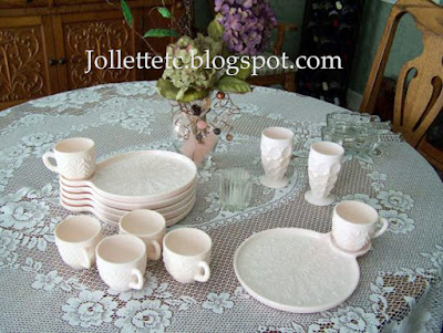 Jeanette Shell Pink snack set https://jollettetc.blogspot.com