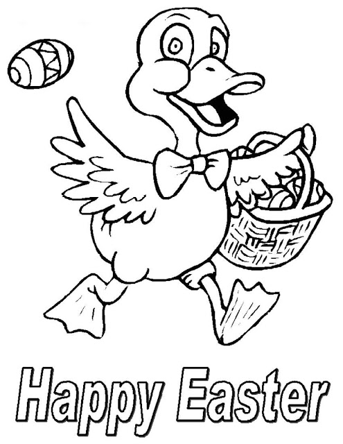 Free Easter Eggs Duck Coloring Pages 2021(1)
