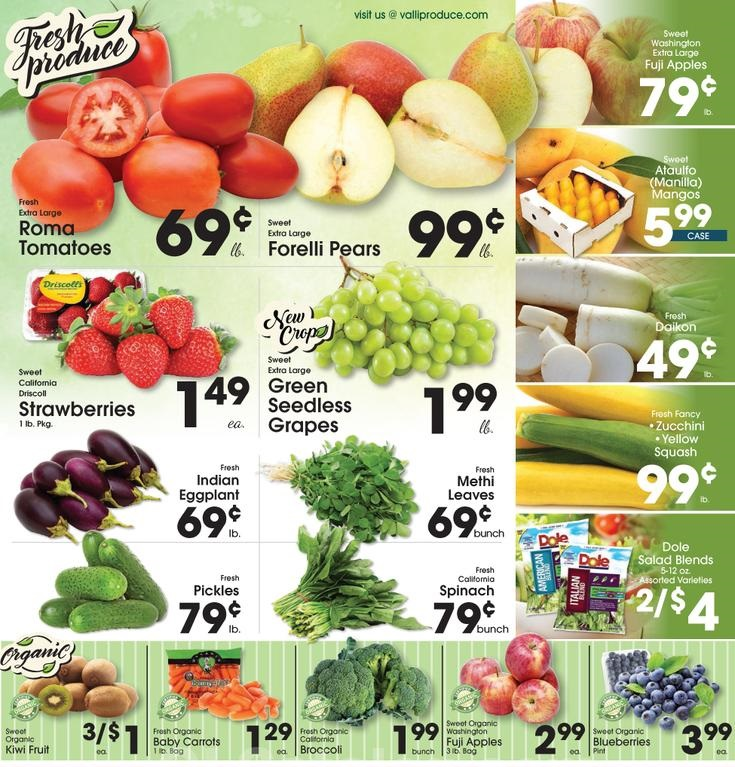 Valli Produce Weekly Ad May 30 June 5 2018 Grocery Weekly Ads