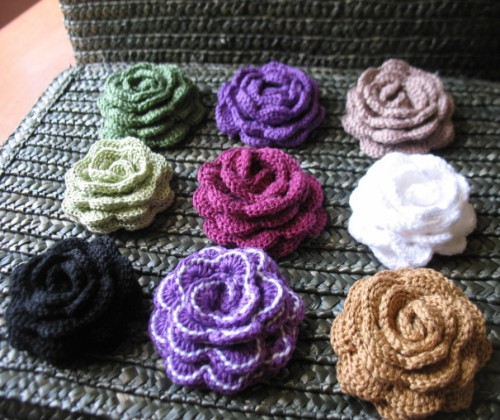 Rose Brooch - Free Pattern