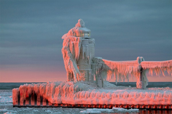 frozen lighthouse photography inspiration