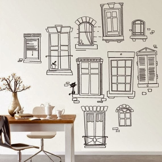 Home Decor Shop Design Ideas: Dreams And Wishes: Wall Drawing Decor In Kid's Rooms