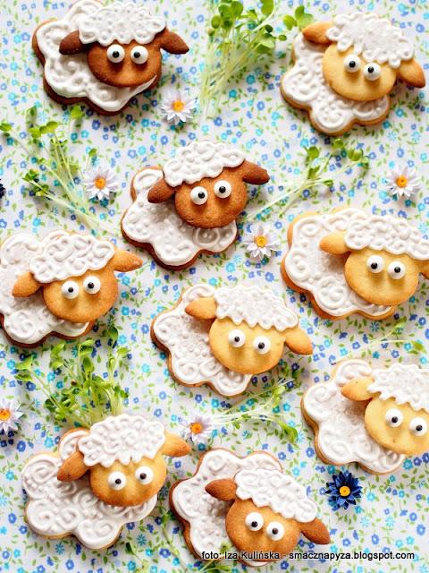 ciasteczka owieczki, kruche ciastka, ciastka cytrynowe