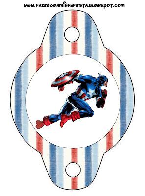 Capitan America Imprimibles Gratis Para Fiestas Oh My Fiesta Friki