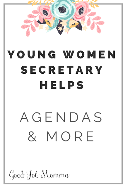 Young Women Secretary Helps | Agendas & MORE