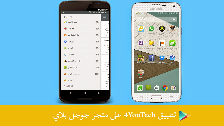 تطبيق 4YouTech هلى الهواتف الذكية للتوصل بجديد الموقع