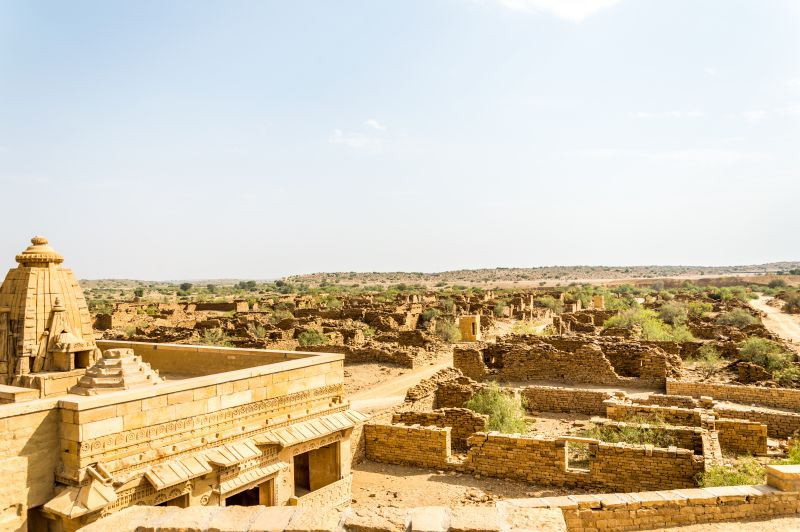 A restored temple in Village Kuldhara