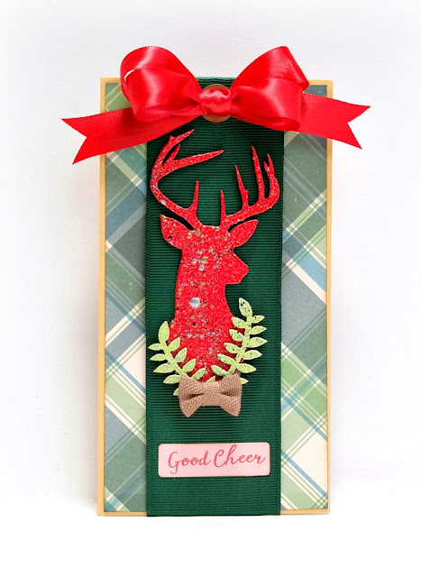 Good Cheer Stag Head Christmas Tag by Dana Tatar for Tando Creative