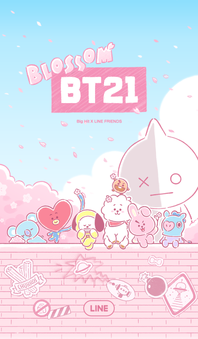 UNIVERSTAR BT21: Awesome Blossom