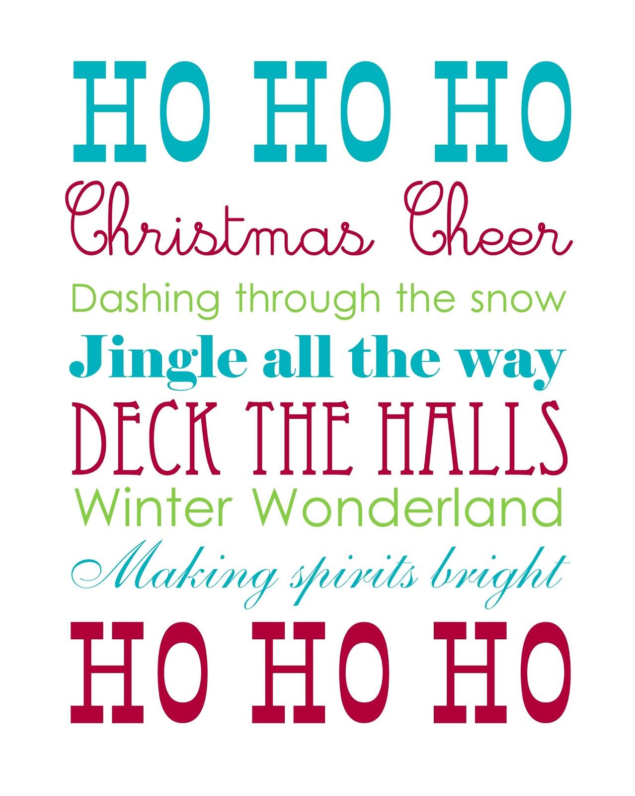 Ho ho holiday printouts to color - Ho Ho Ho Printable Creationz Studio