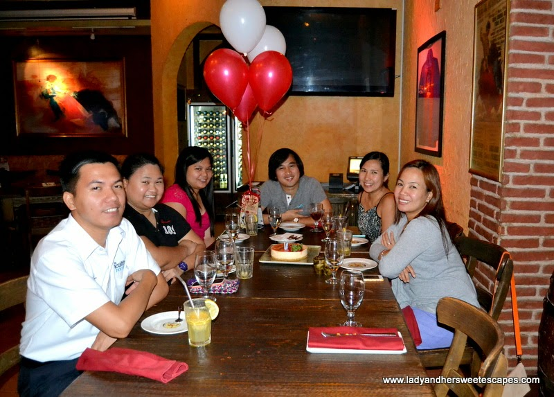 Ed's birthday at Seville's in Wafi
