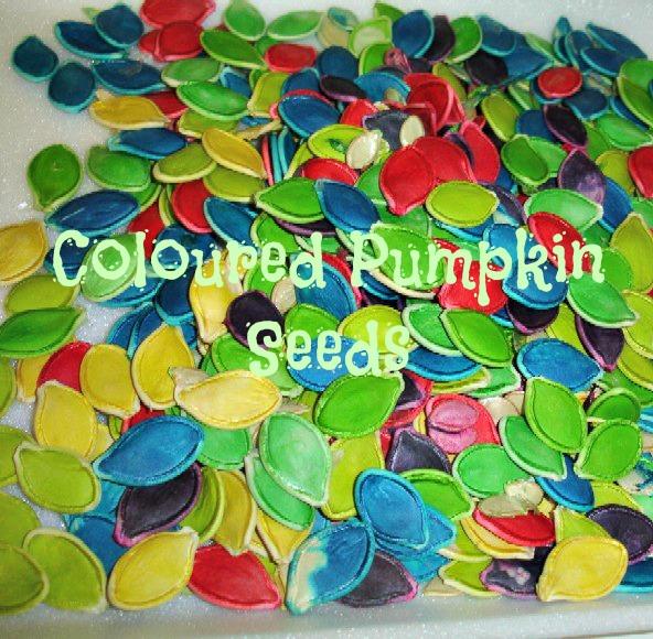 2big2little: Coloured pumpkin seeds