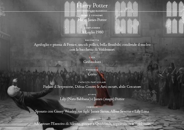 Scheda di Harry Potter