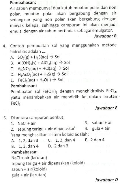 soal essay kimia sistem koloid