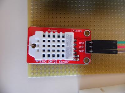 Fig. 5 - Foto del sensore DHT22 o AM2302 di Paolo Luongo