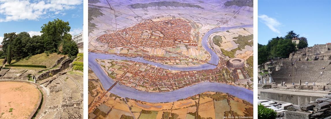 Visite guidée Lyon antique Lugdunum Fourvière gallo romain