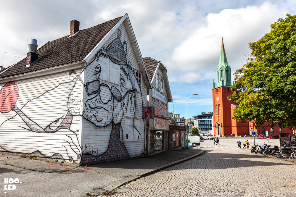 ELLA and PITR, Street Art in Stavanger Norway. Photo ©Mark Rigney / Hookedblog