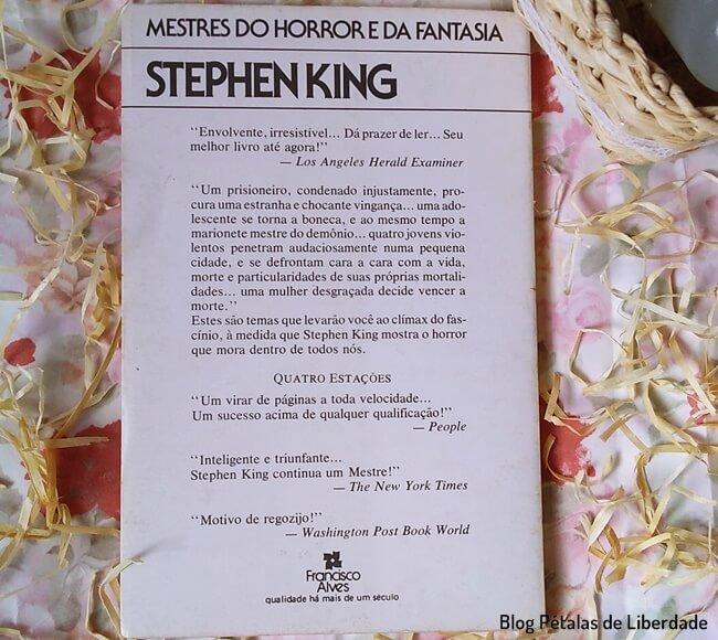 livro, Primavera-Eterna, Quatro-Estacoes, Stephen-King, blog-literario-petalas-de-liberdade, francisco-alves