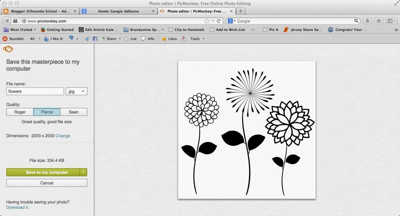 PicMonkey designs, Silhouette Studio, cut, jpeg