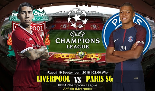 Prediksi Liverpool Vs PSG 19 September 2018