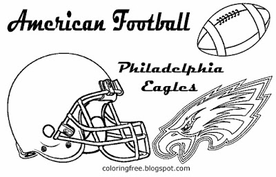 Philadelphia Eagles printable American football emblem coloring images for young men USA East sports