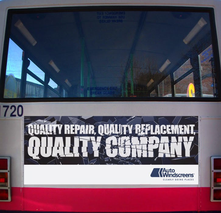 bus rear advertising london