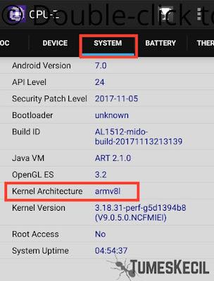 Cara melihat jenis ARM pad CPU Android