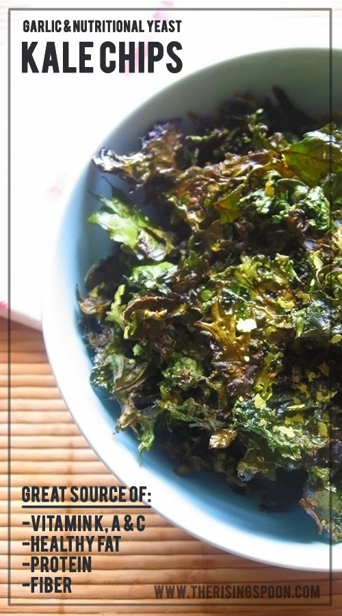 How to Make Kale Chips + My Seasonal Addiction to Potato Chips | www.therisingspoon.com