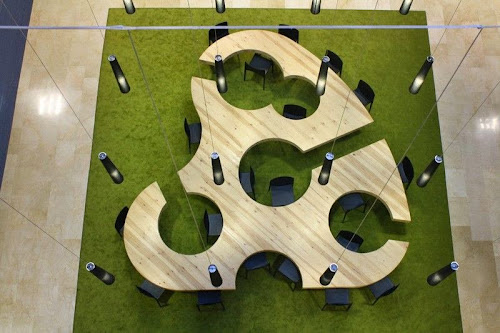 Innovative table design for the best socialization in the meeting place