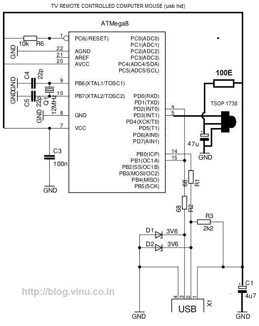 Control PC Mouse with TV Remote  Microcontroller Project