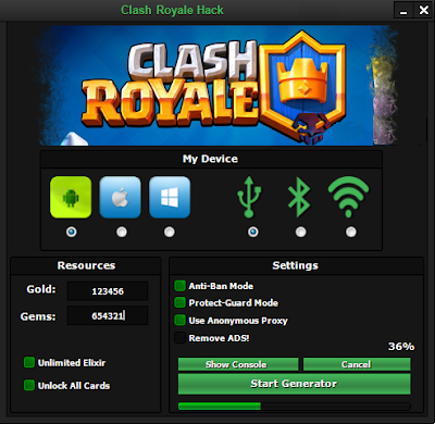 CLASH ROYALE HACK – GET FREE GEMS, GOLD, ELIXIR & CARDS CHEATS ...