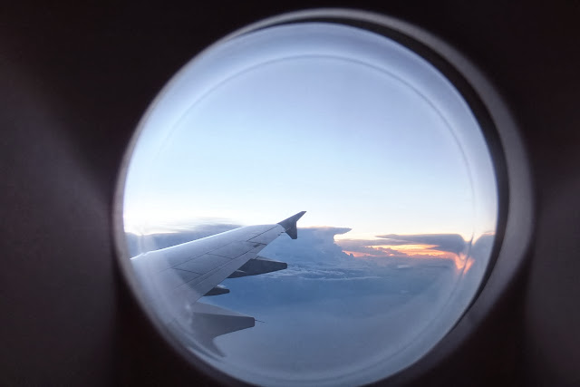 viwe-from-airplane 飛行機からの夕暮れ時