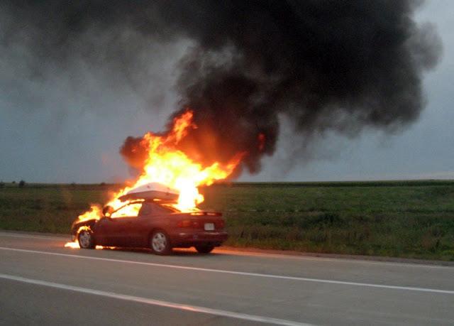 Πυρκαγιά σε αυτοκίνητο στην Εθνική Οδό Κορίνθου – Τριπόλεως