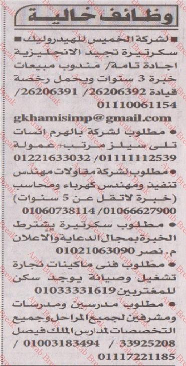 وظائف اهرام الجمعة 29/6/2018