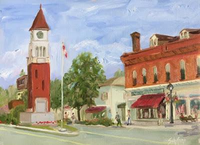 Ontario painting, street scene, kschifano