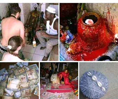 Man Advertises ritual with whiteman's head being chopped off (Photos)