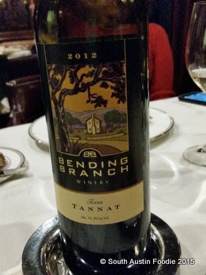 The Driskill -- Bending Branch Winery Tannat