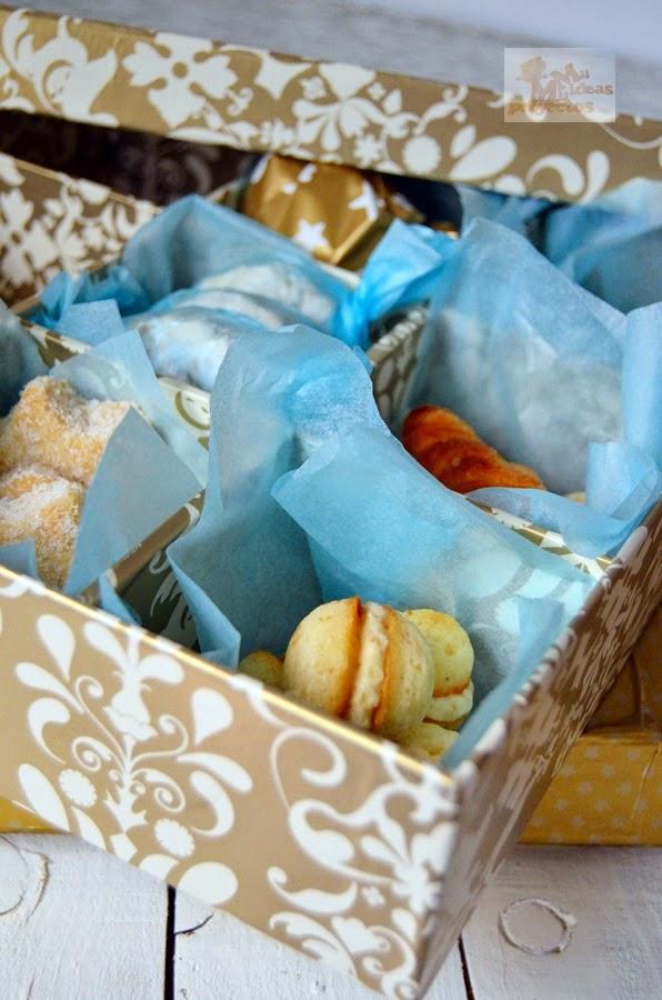 Forrar una caja para regalo para los dulces de navidad - Regalos originales para casa ...