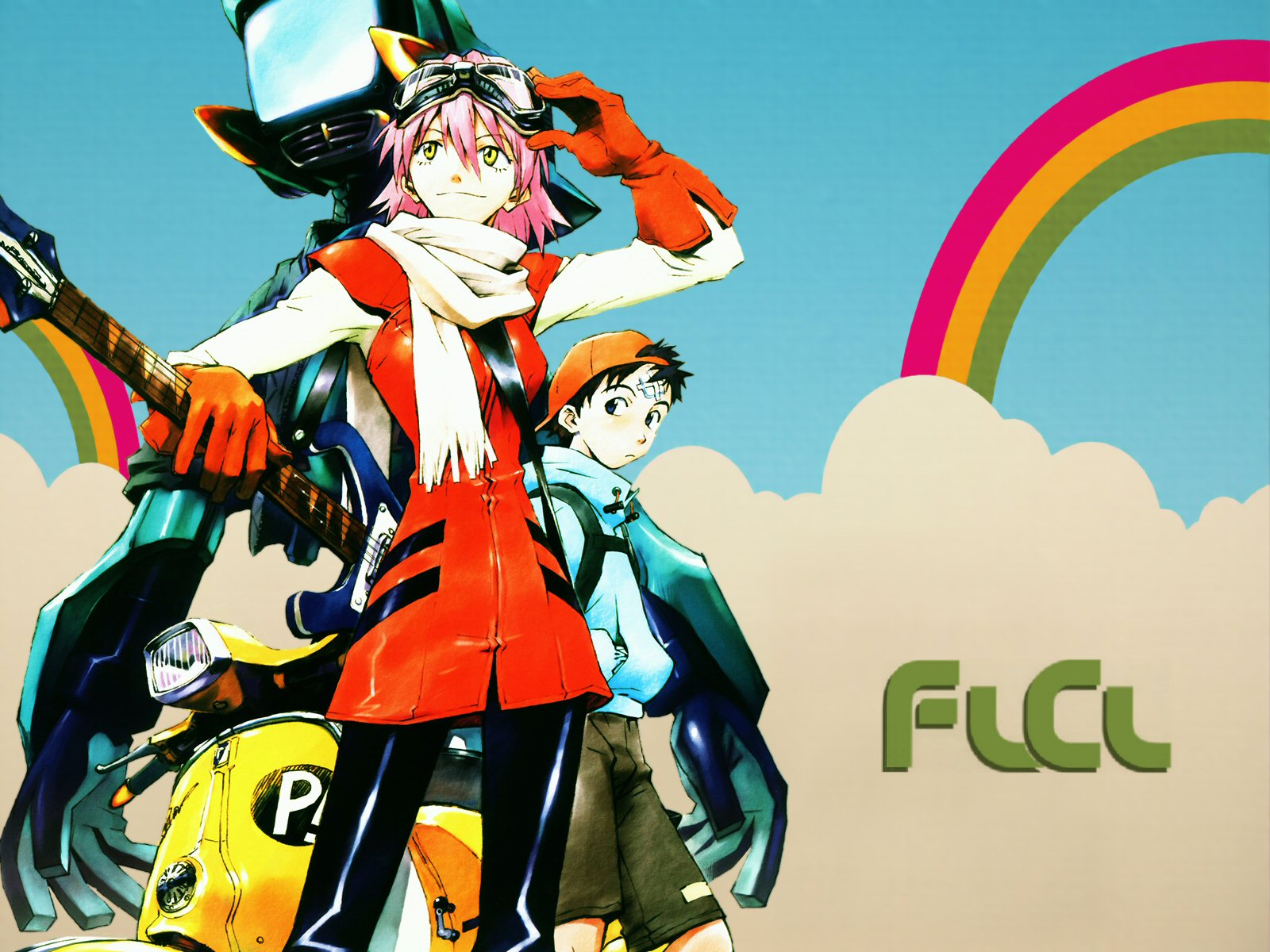 Flcl a coming of age anime not for the casual viewer - Flcl wallpaper ...