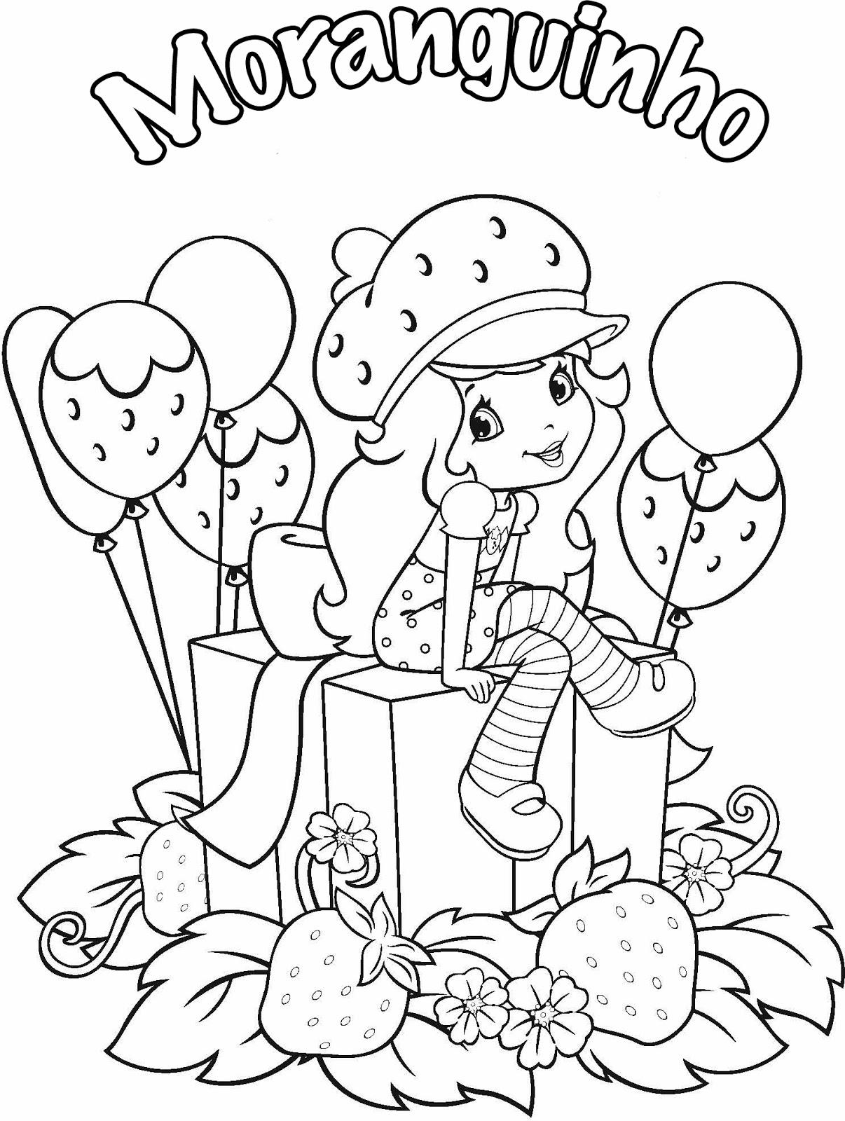 Desenho Da Moranguinho Para Colorir Escolinha Da Lucia