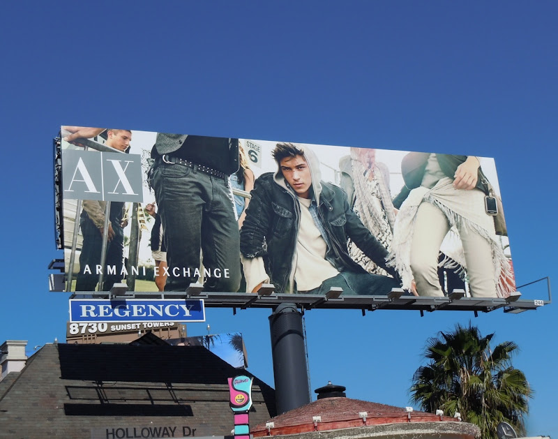 Armani Exchange hoodie fashion billboard