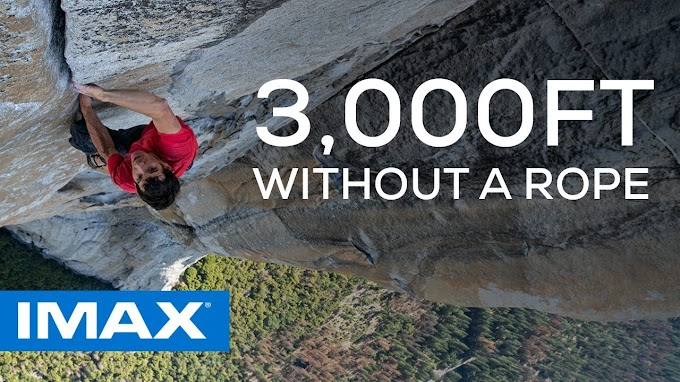Free Solo at 3200 feet high, the documentary won the Oscars