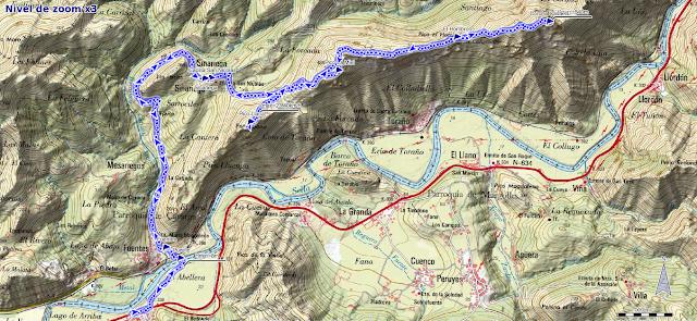 Mapa ruta Corona Castiello Triongo