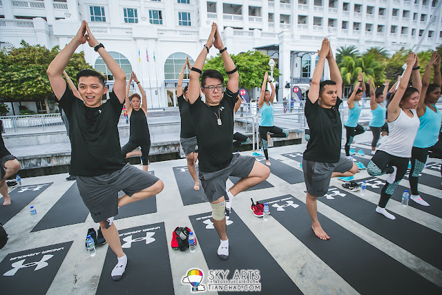 Sunset Yoga at Straits Quay Penang with Hansen Lee and Robyn Lau